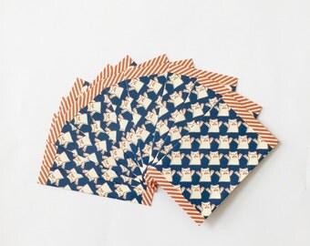 Mini Navy Bears Envelope - Petit Bags - 10 pcs