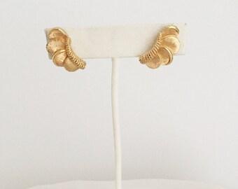 Vintage Boucher Gold Climber Earrings