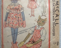 vintage 156 McCall STUFFED DOLLS sewing pattern