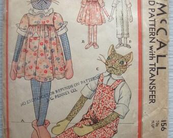 vintage 156 McCall STUFFED DOLLS sewing pattern