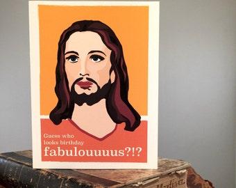 Set of 8 Funny Jesus Birthday Card - Birthday Fabulous - Snarky Greeting Card