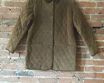 Vintage Quilted Leather Riding Jacket