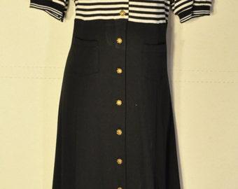 Womens Vintage Button Down Dress