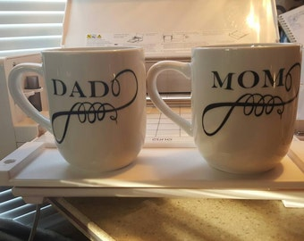 His and her coffee cup set