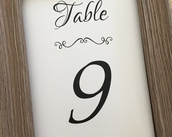 Elegant Wedding Table Numbers, 5x7 Table Numbers,Any Color,Printed Table Numbers (TNS-02)