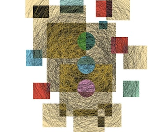 Prints: Abstract-Geometric Artwork for Print nº 1