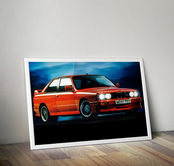 Bmw E30 M3 Engine Number: BMW M3 Poster Car Poster Drift Race E30 By POSTERGROUND
