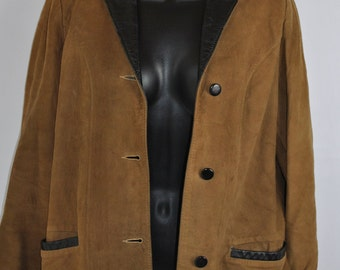 Leather Suede Fitted VTG Jacket 1960's