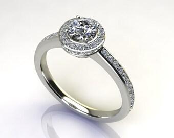 Custom Diamond Halo Ring