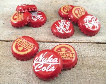 Fallout Caps SET OF 10, Mixed Nuka Cola and Sunset Sarsaparilla, Cosplay, Decor, Accessories