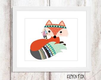 Fox Wall Art fox wall art | etsy