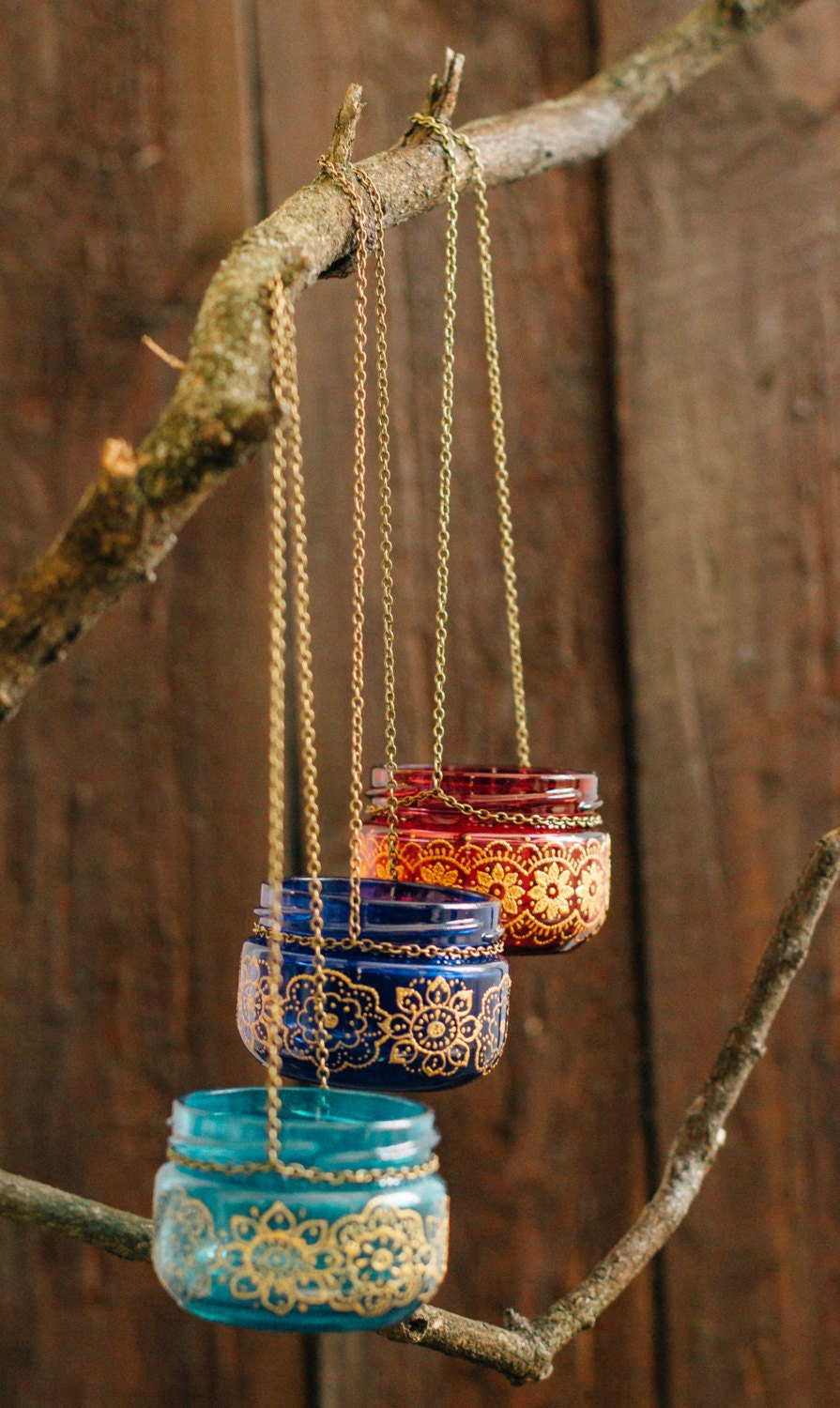 BOHEMIAN Wedding Decor Moroccan Outdoor Lantern Hanging Jar