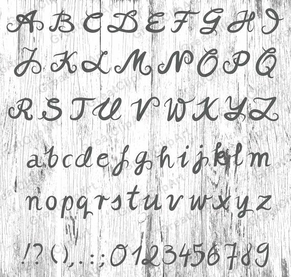 Extreem 70 kalligrafie alfabet getallen Letters geschilderd Hand LW75