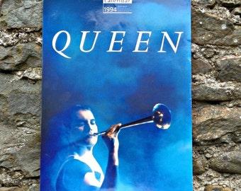 Queen Copyright Approved 1994 Calendar Music Memorabilia Collectable Full Page Photos Freddie Mercury Brian May Roger Taylor John Deacon