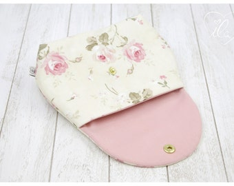 Cosmetic bag for baby dummies make up powder hygiene products cream tissues cream pink - ILA - isn't life amazing