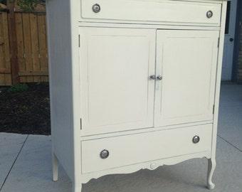 Vintage tall boy dresser