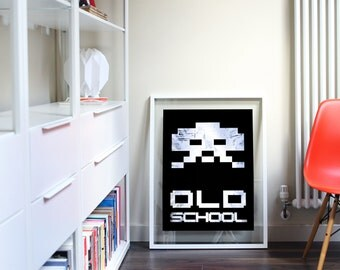 Video Game Poster Print - Space Invaders