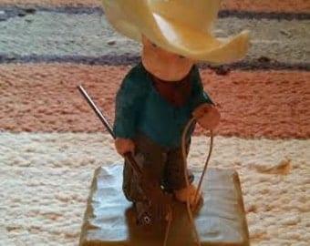 Vintage 1970's cowboy ornament