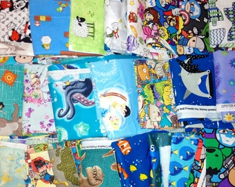 Cartoon Fabric Remnants - Fabric Remnants - Remnants - Fabric by Weight - Fabric by the Pound