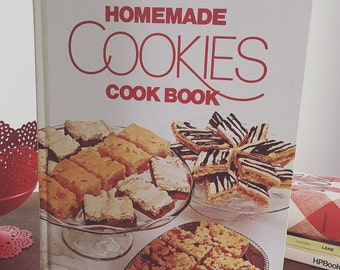 Vintage Cookbook, Better Homes & Gardens Homemade Cookies Cookbook, Baking Cookbook