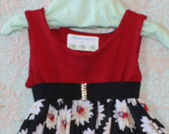 Girls red dress, Girls black dress, Girls size 3 dress, Toddler red dress, Toddler black dress