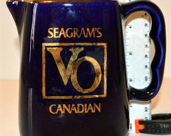 "Vintage Bar Pitcher ""Seagram's Canadian VO Whisky"""