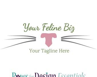 Premade Cat Logo - Kitty Nose - pet sitter cat groomer cat care feline exclusive vet customizable