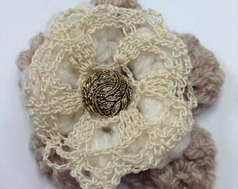 Brooch, Crochet Flowers