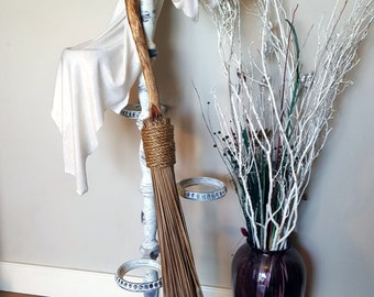 Quartz Willow Broom, Besom, Witches Broom