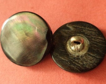 10 mother of Pearl buttons dark grey 14 mm (6492) button buttons Pearl Grey blouse buttons shirt buttons