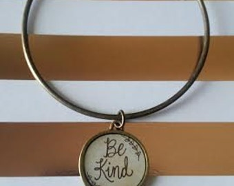 Bronze Bangle Charm Bracelet