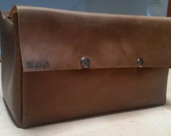 Leather Dopp Kit, Men's Toiletry Bag, Bathroom bag