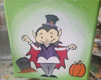 Halloween vampire painting