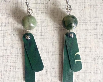 Upcycled Card Earrings - Barnes & Noble #3