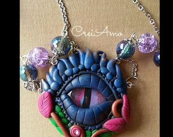 Necklace with pendant with eye of the Dragon (Dragon Eye)