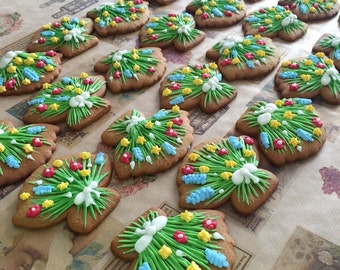 Wildflower Cookies  (One dozen)