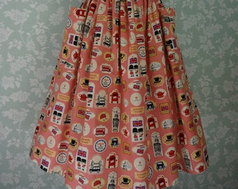 "London print skirt 31""~32"""