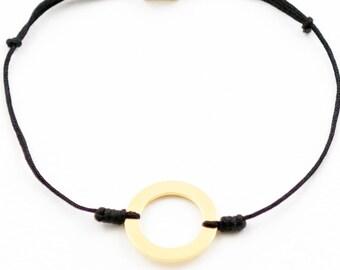 Polygon round Gold Bracelet
