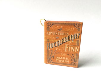 Miniature Huckleberry Finn Book Necklace/Keychain