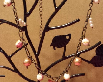 Autumn Fox and Pearl Necklace