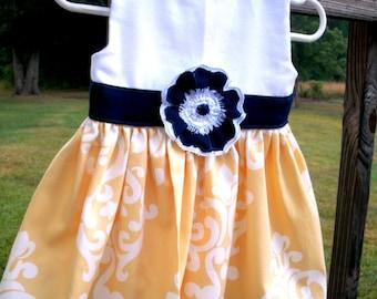 Free Shipping Yellow--Lightweight Cotton Dress