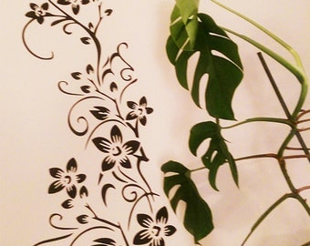 Vine - Flowers - Nature - Vinyl Wall Decal