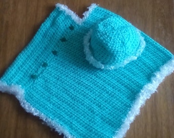 Little Turtles Poncho and Hat Set