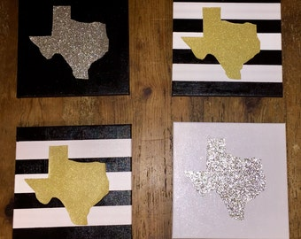 4 Pack State Canvas