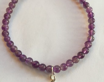 4mm quartz power bead bracelet with by mysticmichaela