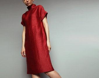 Zipped neck dress