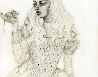 The white queen- 4x6 print