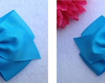 6 - Blue Hair bows party favors, inspired by Cinderella