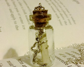 Message in a Bottle Charm Necklace