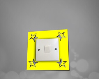 acrylic star light switch surround light switch plate light switch cover available in 10